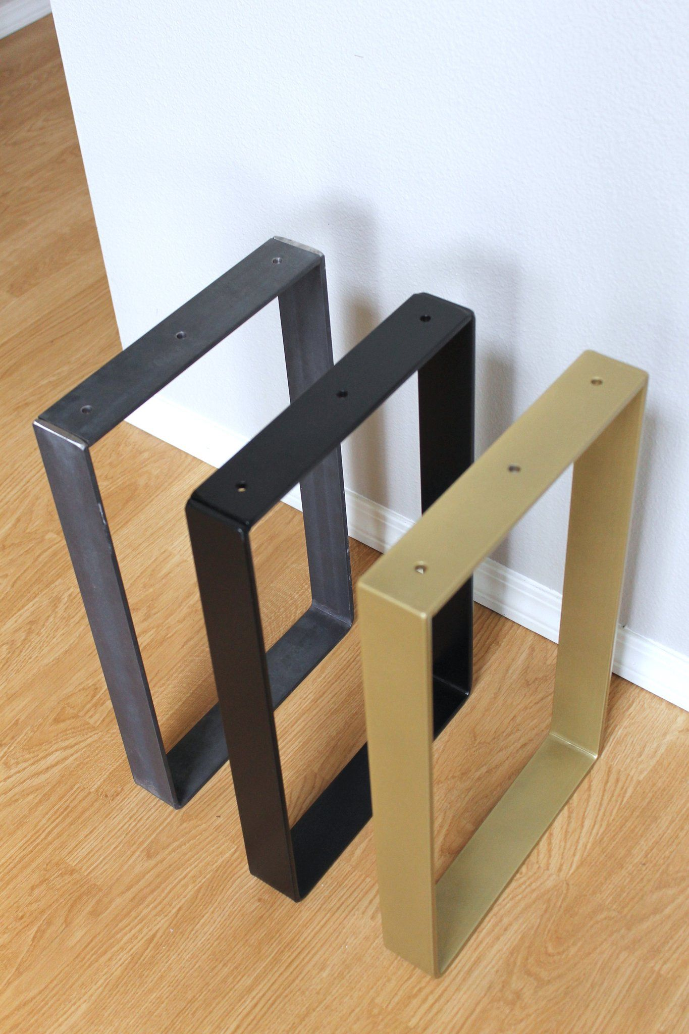 Metal Bench Legs (Black, Brass, Steel), Set of 2 in 2020