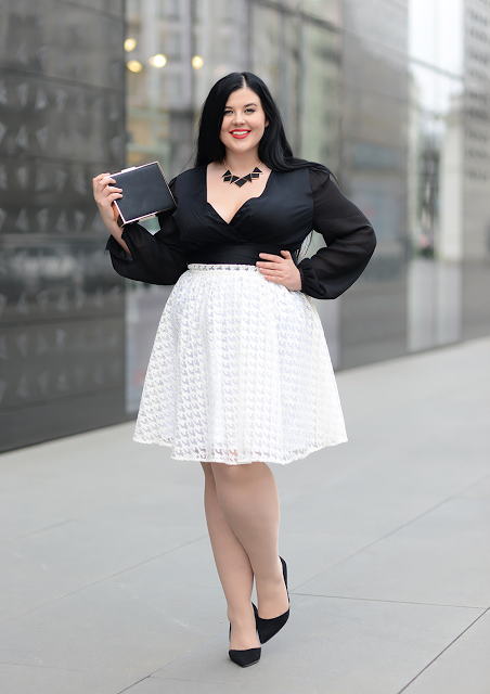 Black and white combo | Plus Size