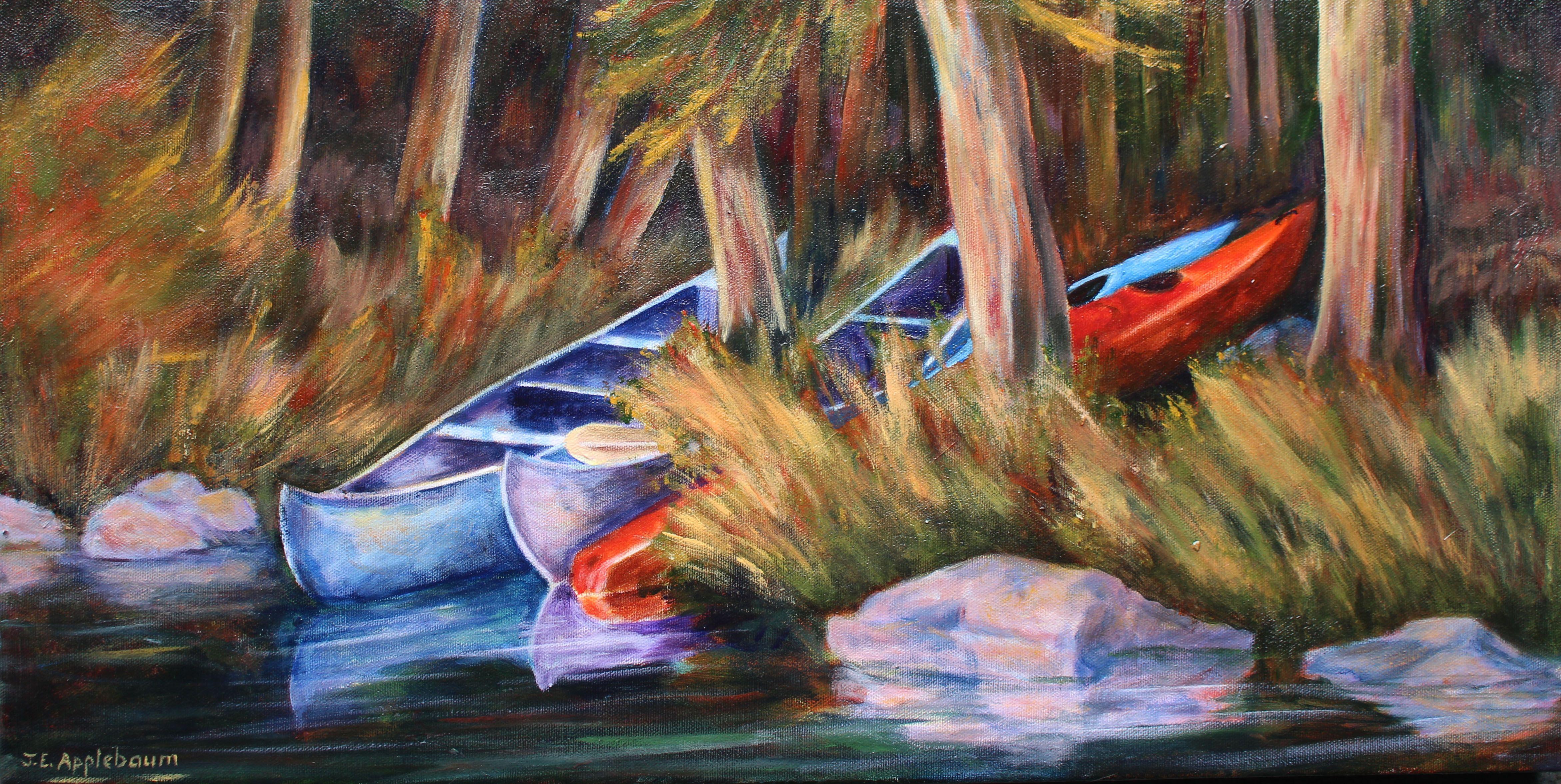 """""""Twilight in Kayak Cove"""" acrylic"""