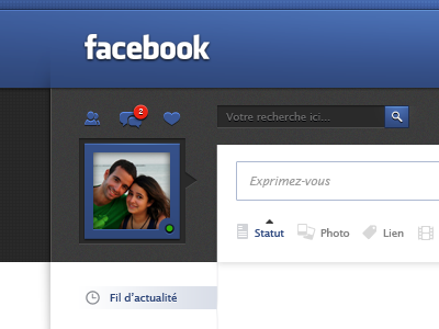 Dribbble - Facebook redesign ( UI / UX ) by Jonathan Moreira - via http://bit.ly/epinner