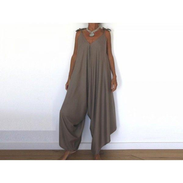 Patron de couture téléchargeable, Salopette Sarouel pour femme Downloadable\u2026