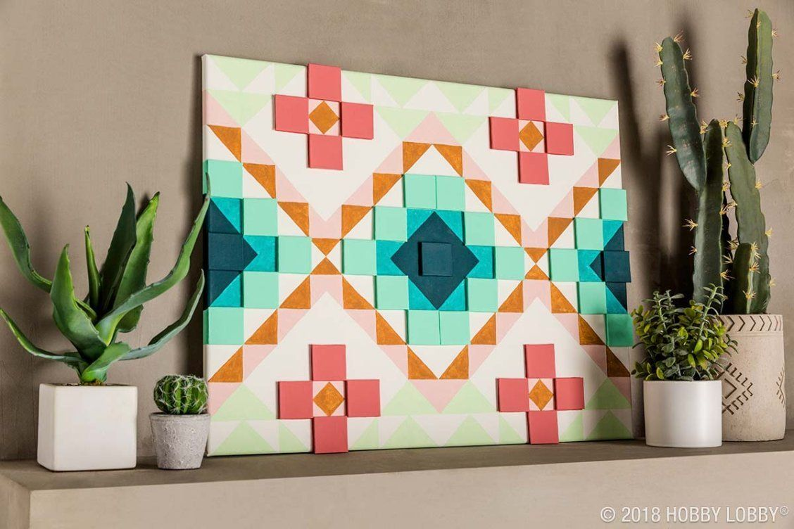 Diy Your Very Own Southwestern Pop Up Art With Canvas Art Journal Pages Diy Smash Book