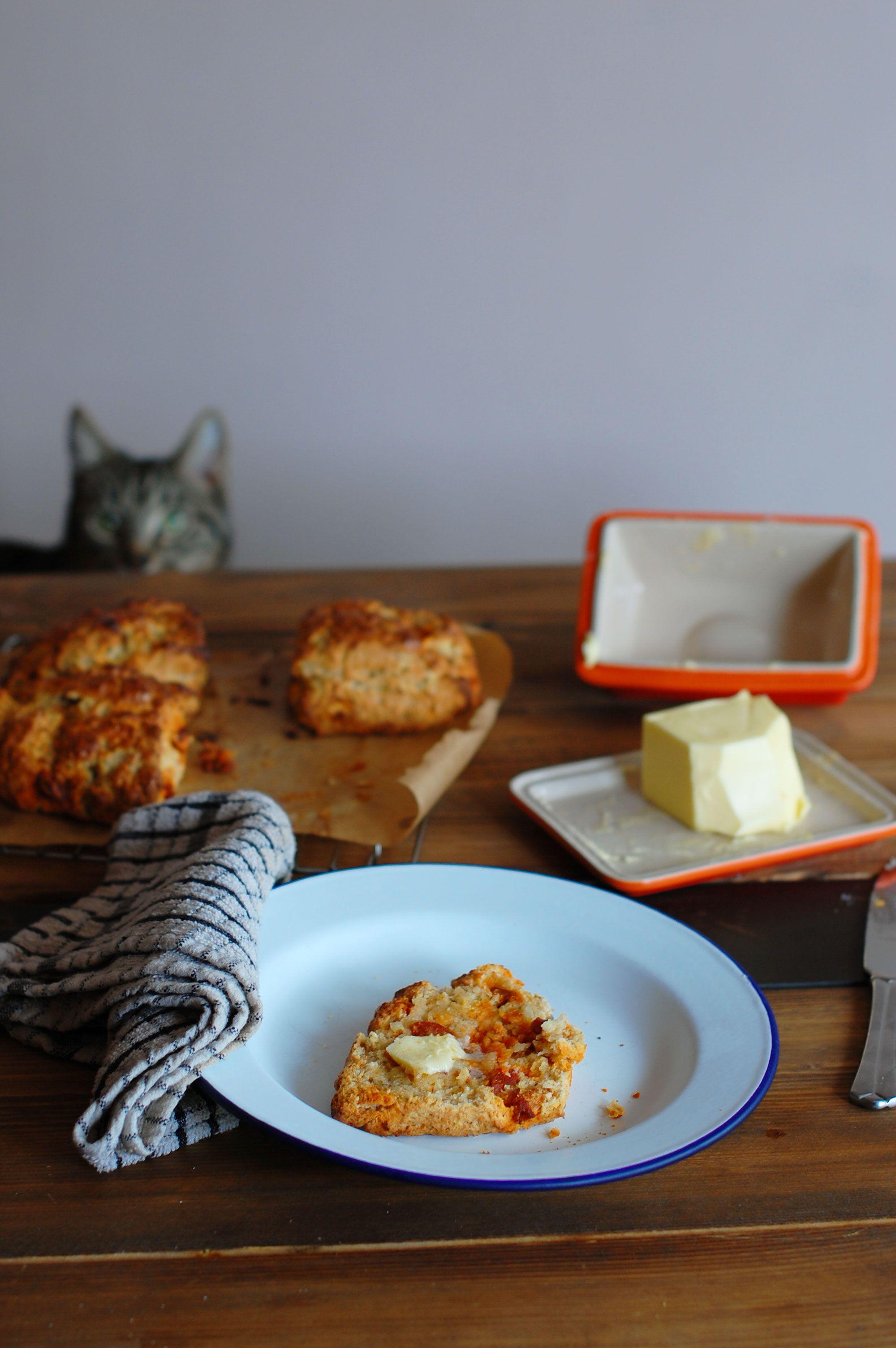 Goats Cheese, Chorizo & Chilli Scones Recipe Food