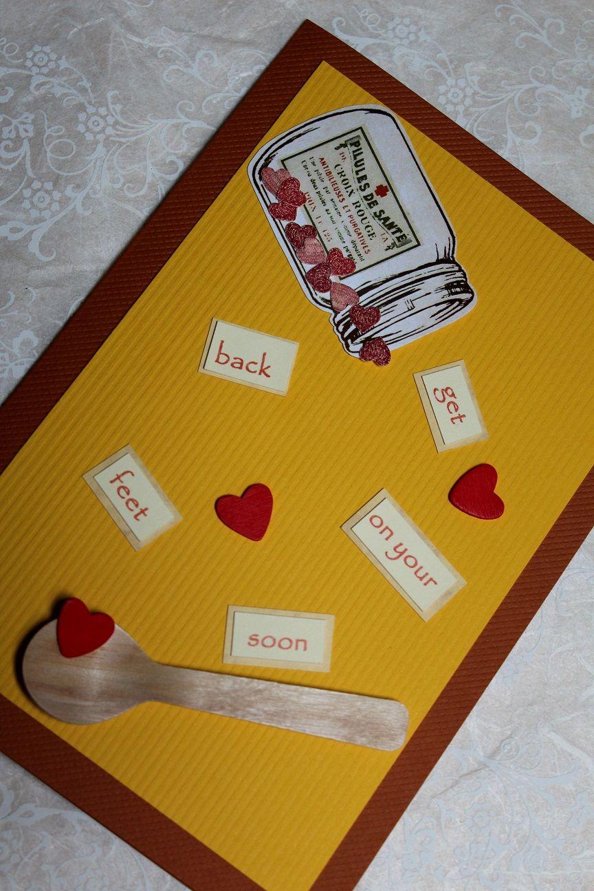 #getwellsoon #handmadecard #getwellcard #feelbettercard #encouragementcard #sympathycard #getwellgift #hospitalgift #breakupgift #etsy #etsycrafts #etsyhandmadecards
