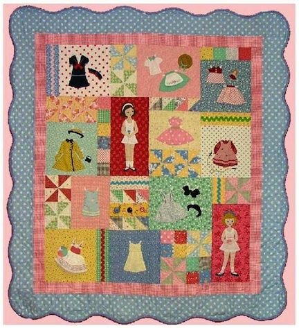 Image detail for -Sewing Pattern Paperdoll Play Quilt Pattern Book ...