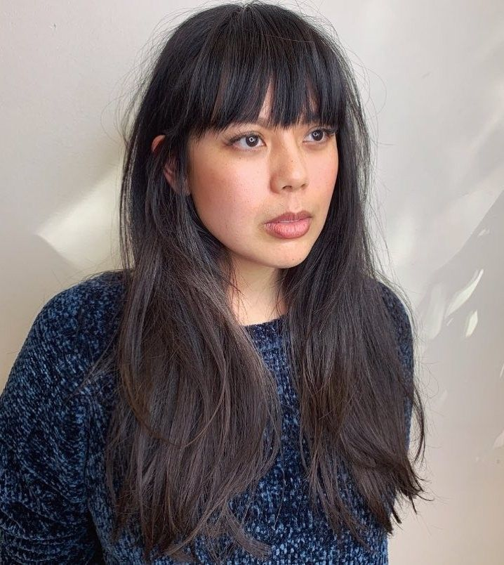 Cool Bangs For Long Hair: Pin By Savanna Miller On Beauty