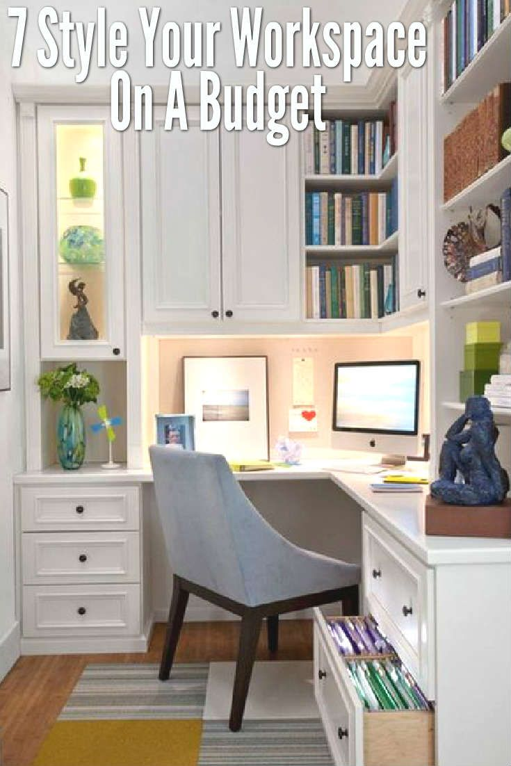 How To Style Your Workspace On A Budget | Interiors, Small space ...