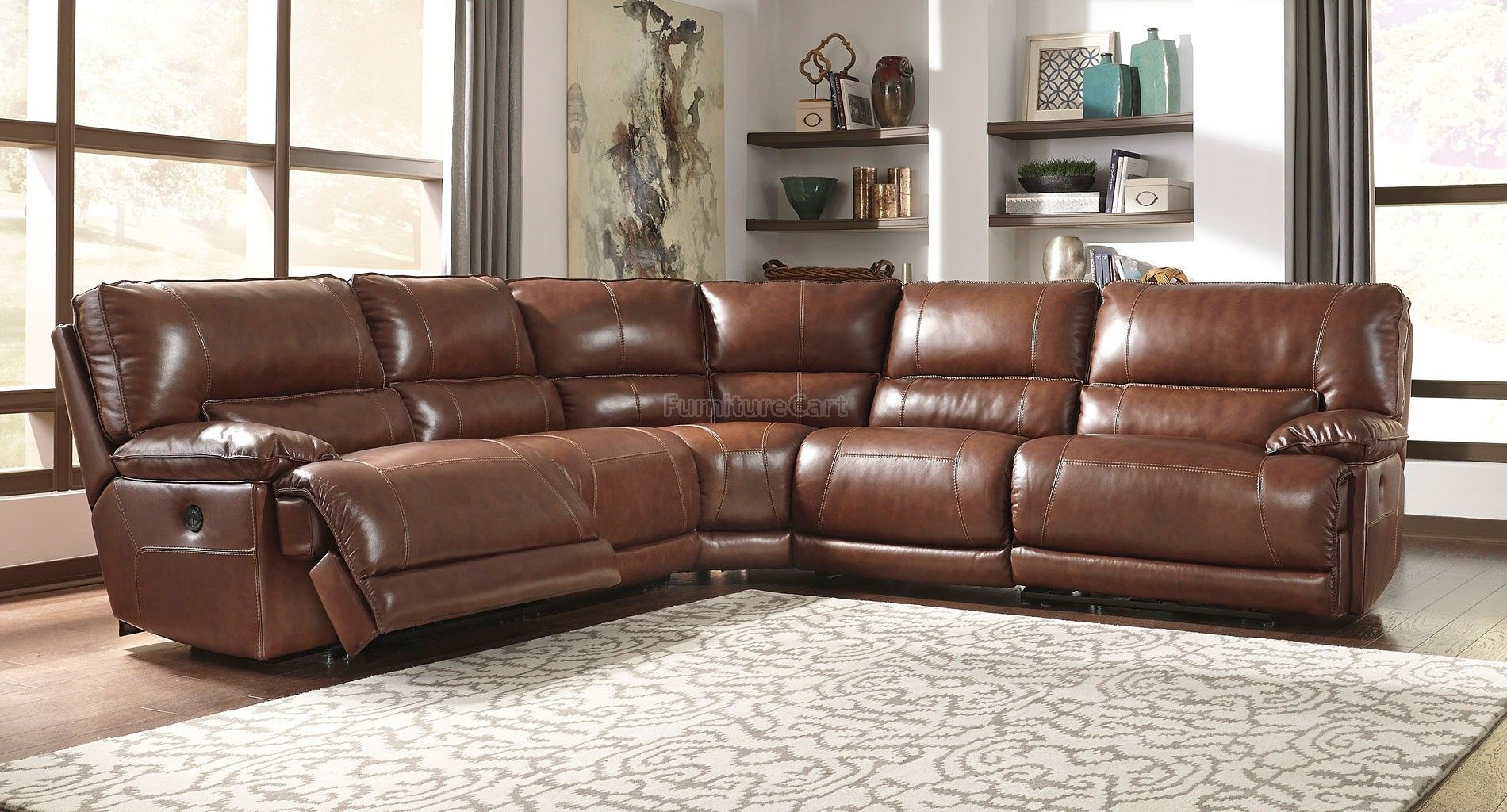 Kalel Saddle Power Reclining Sectional Sectional Living Room