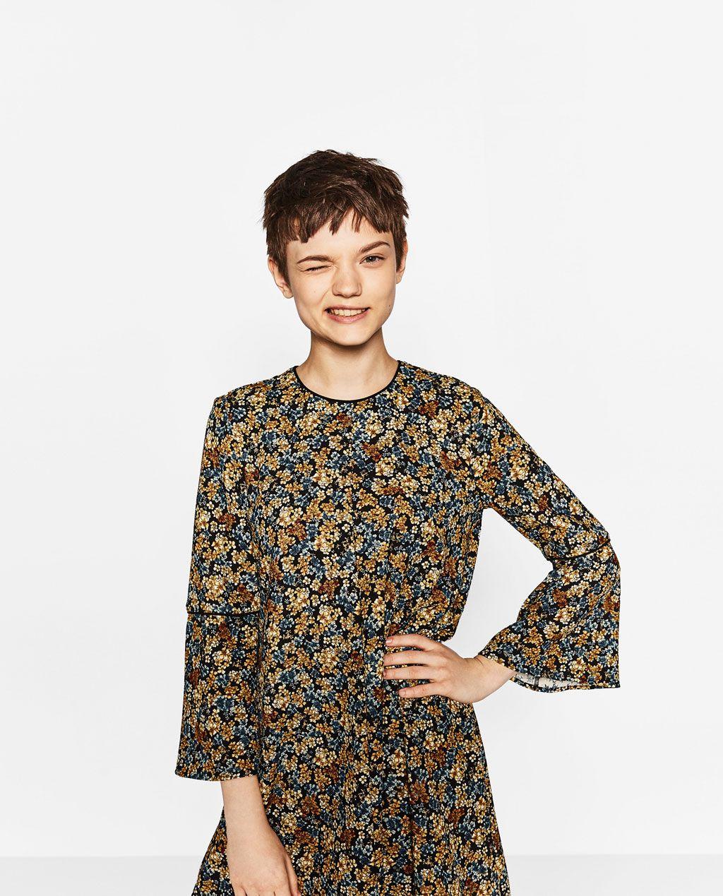 Zara Dan 4 Cicekli Elbise Resmi Cicekli Elbise The Dress Zara