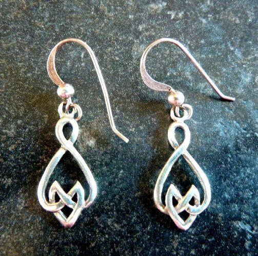 Vintage Sterling Silver Celtic Style Drop Earrings By Kit Heath Vintage Bracelets Modern Earrings Earrings