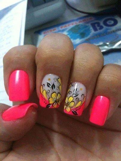 U as decoradas u as fucsia nailart pink u as bonitas pink fucsia pinterest - Unas bonitas decoradas ...