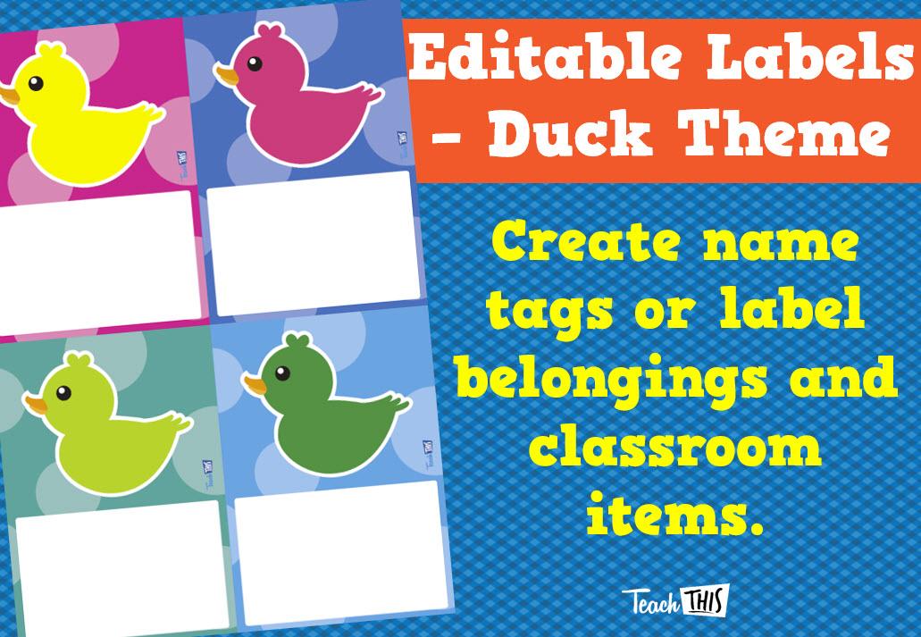 Duck Theme Editable Labels Size 3 Editable labels
