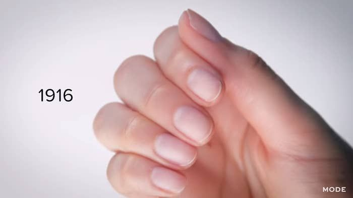 Here's What 100 Years Of Nail Trends Look Like In Two Minutes