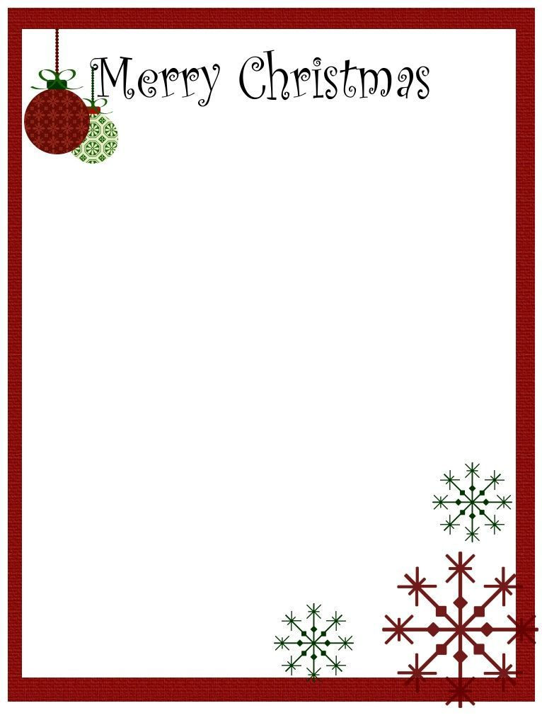 free christmas letterhead templates printable - Gecce.tackletarts.co