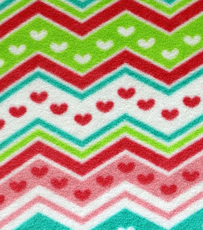 Antipill fleece fabric heart chevron products pinterest