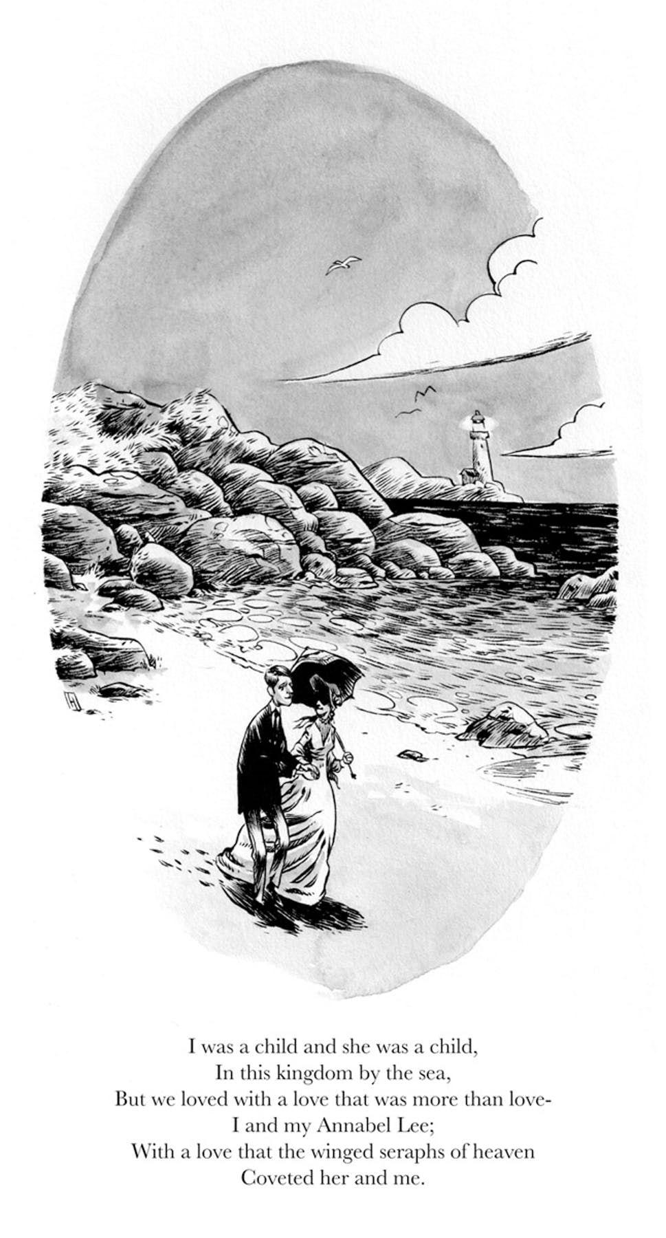 Robot 666 Greg Hinkle Illustrates Edgar Allan Poe S Em Annabel Lee Em Edgar Allen Poe Quotes Annabel Lee Edgar Allan Poe Illustration
