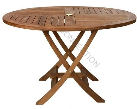 Round Teak Table You Can Fold It Awsome If You Don T Have Much Space Or For Putting Away With Images Round Folding Table Teak Dining Table Outdoor Dining Table