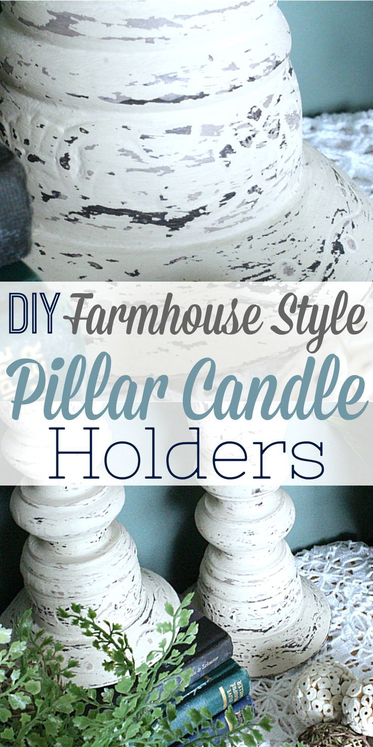 diy distressed pillar candle holders | chalk paint and craft