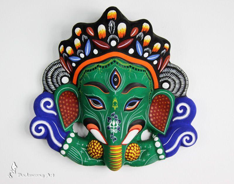 Paper Mache Ganesh Mask -- Bali, Indonesia