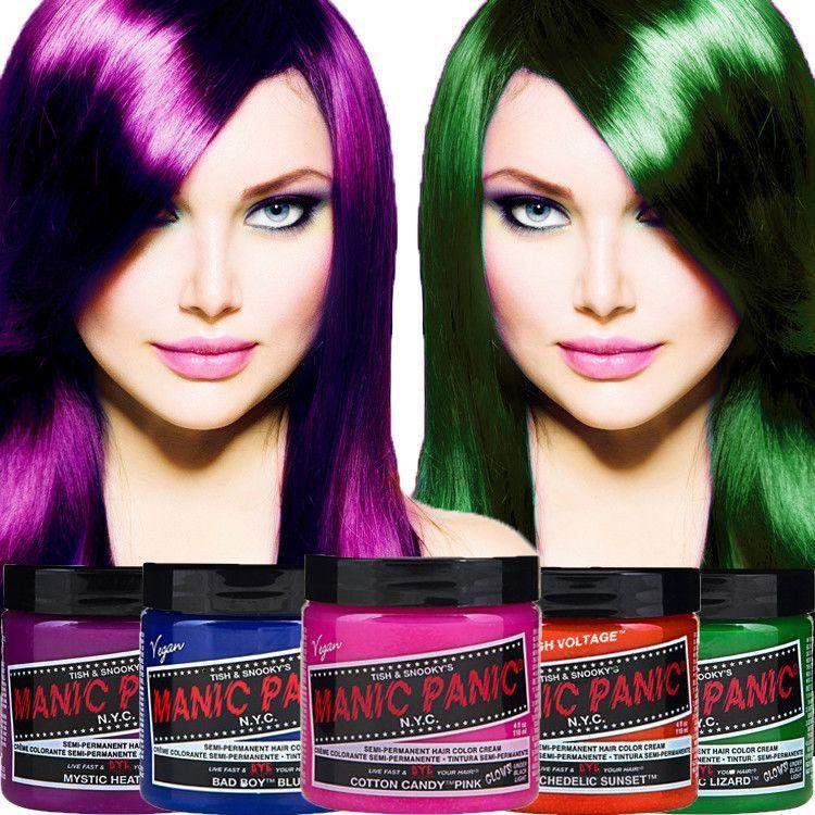 Manic Panic Classic Cream Vegan Hair Dye Vegan Hair Dye Semi Permanent Hair Color Hair Dye Colors