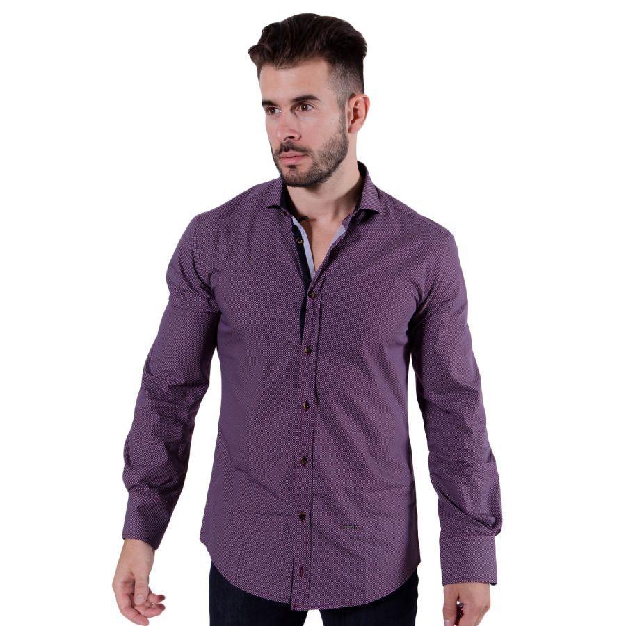 STEFAN Ελαστικό slim fit πουκάμισο f8a62b42d55