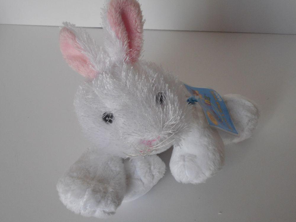 "Webkins white Rabbit new with tags and sealed code! 8"" plush stuffed animal #webkins"