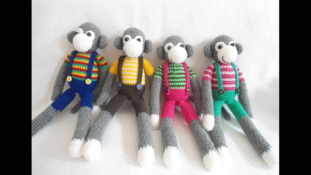 How I Sew Amigurumi Monkey Crochet Youtube Oynat 5 Pinterest