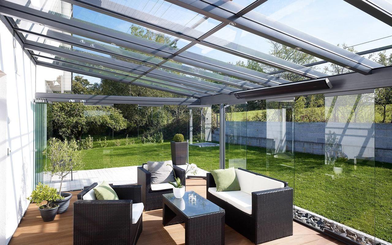 Fancy Ein Alu Terrassendach der Marke REXOclassic m x m in Anthrazit mit Plexiglas