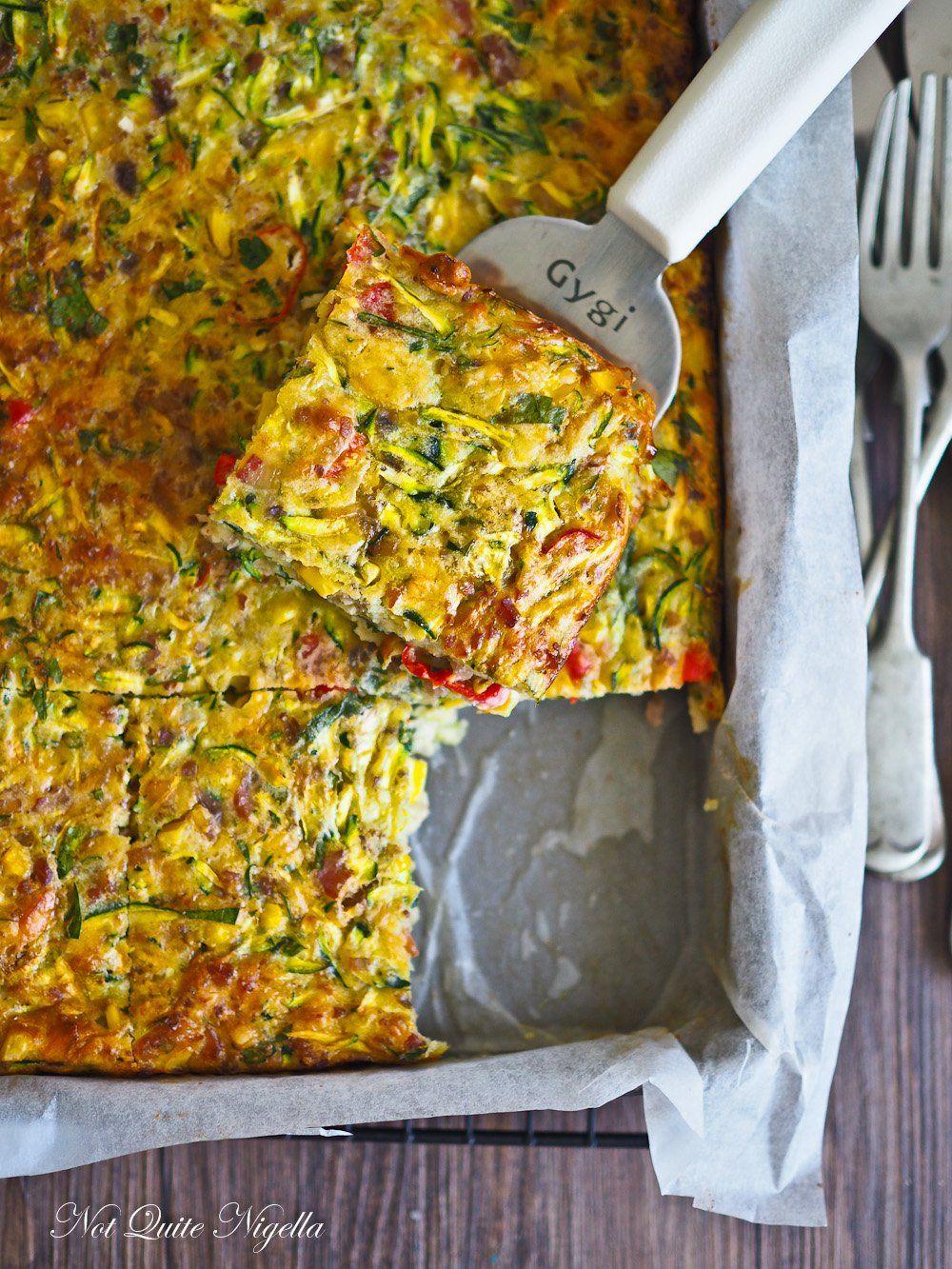 The Incredible Very Edible Zucchini Slice Recipe Deliciousness