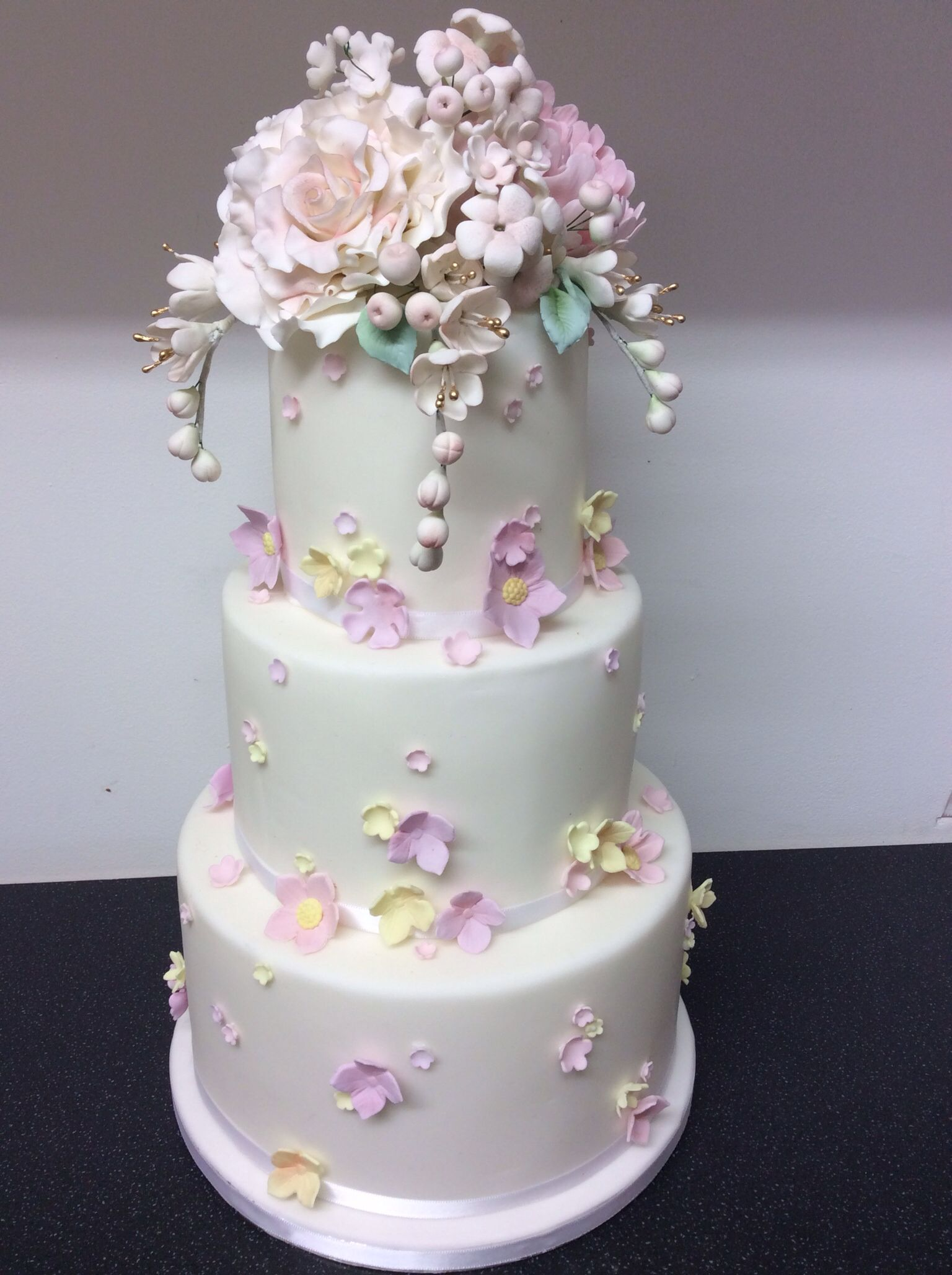 Floral Vintage Themed Wedding Cake My Wedding Cakes Pinterest