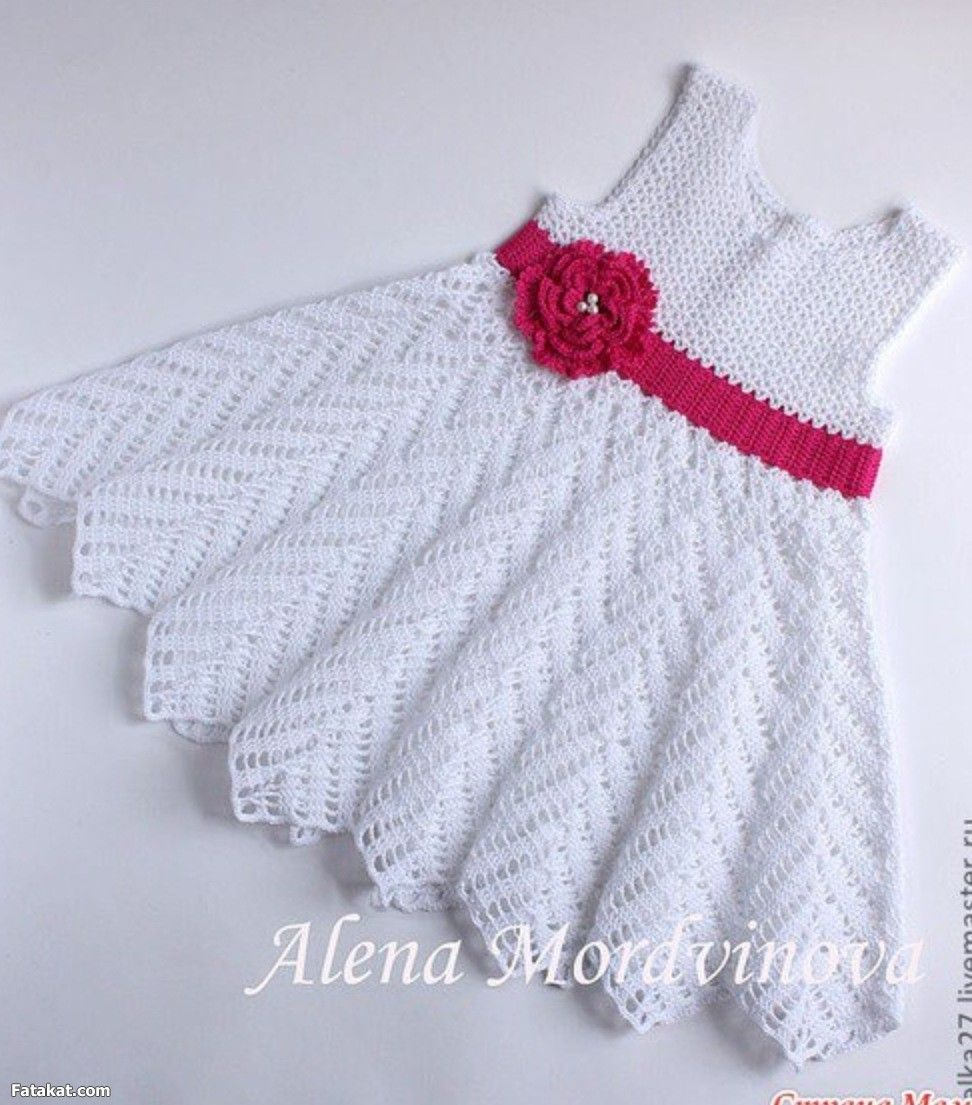 Как вязать платье детское крючком