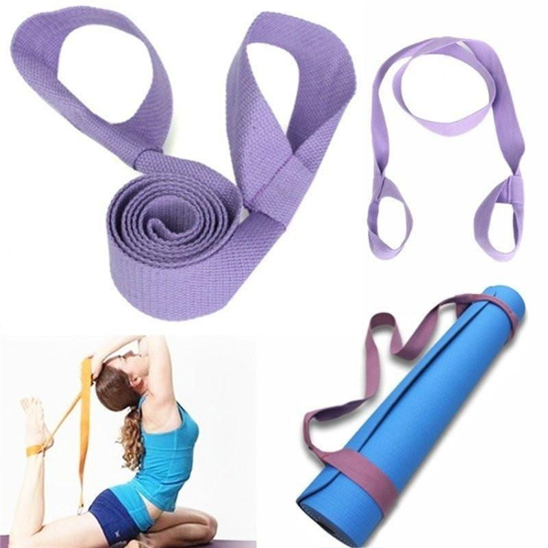 Transport Your Yoga Mat With This Easy To Use Sling Strap This Yoga And Pilates Tool Helps You Also Stretch Your Body And A Yoga Mat Strap Yoga Strap Gym Rope
