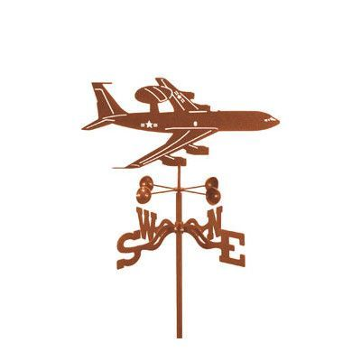 EZVaneInc Float Airplane Weathervane with Four Sided Mount