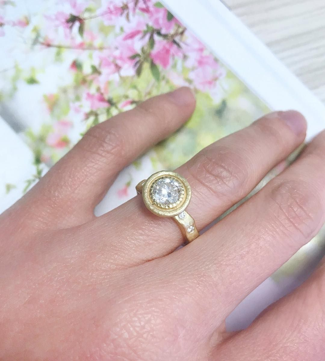 A non-traditional upscale engagement ring inspired by nature ...