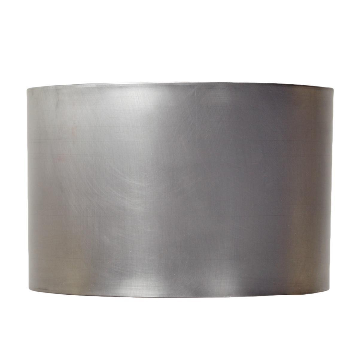16 Metal Drum Lampshade Pewter Black Or Gold Metal Drum Shade Drum Lampshade Metal Drum