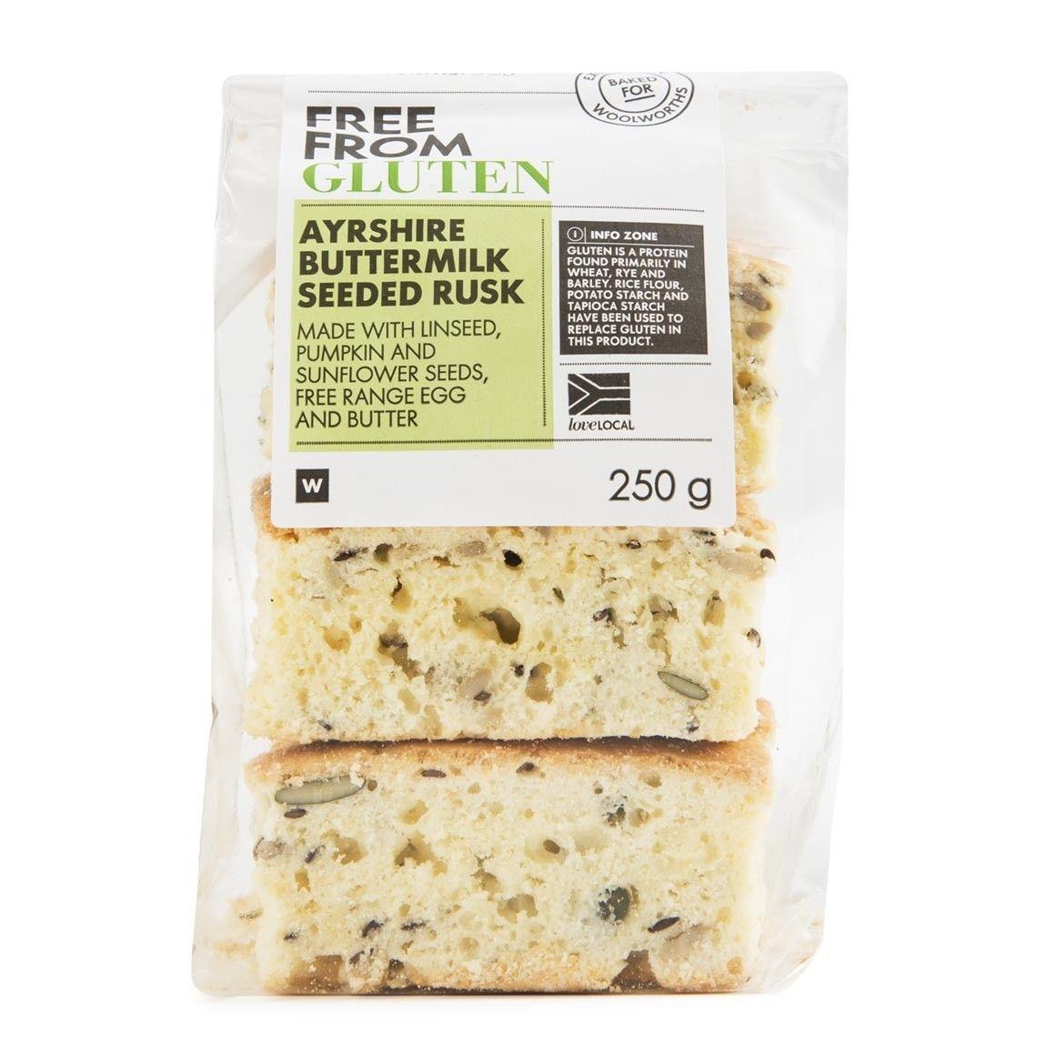 Gluten Free Ayrshire Buttermilk Seeded Rusk 250g Food
