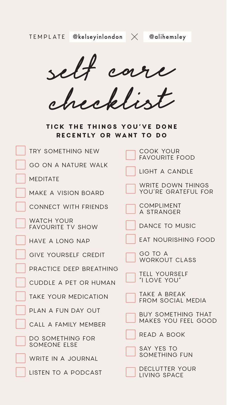 Instagram Story Vorlage - Self Care Checkliste - Cliquez ici pour en savoir plus sur www.inst #checkliste #cliquez #instagram #savoir #story #vorlage