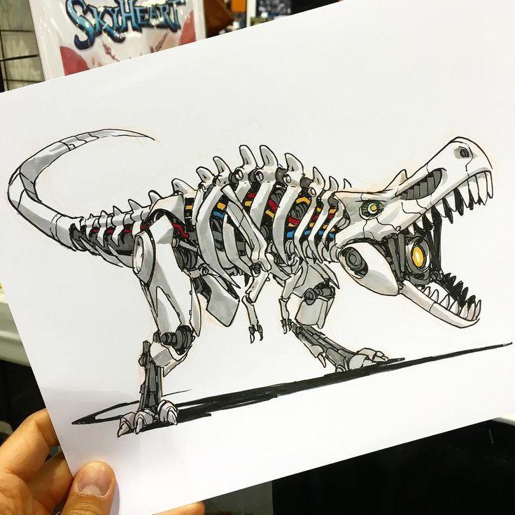 Tyrannosaurus Rex Robot by Jake Parker - #Jake #Parker #Rex #robot #Tyrannosaurus #tyrannosaurusrex