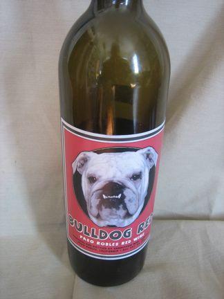 Bulldog Wine Bulldog Mom Happy New Year Dog Wine