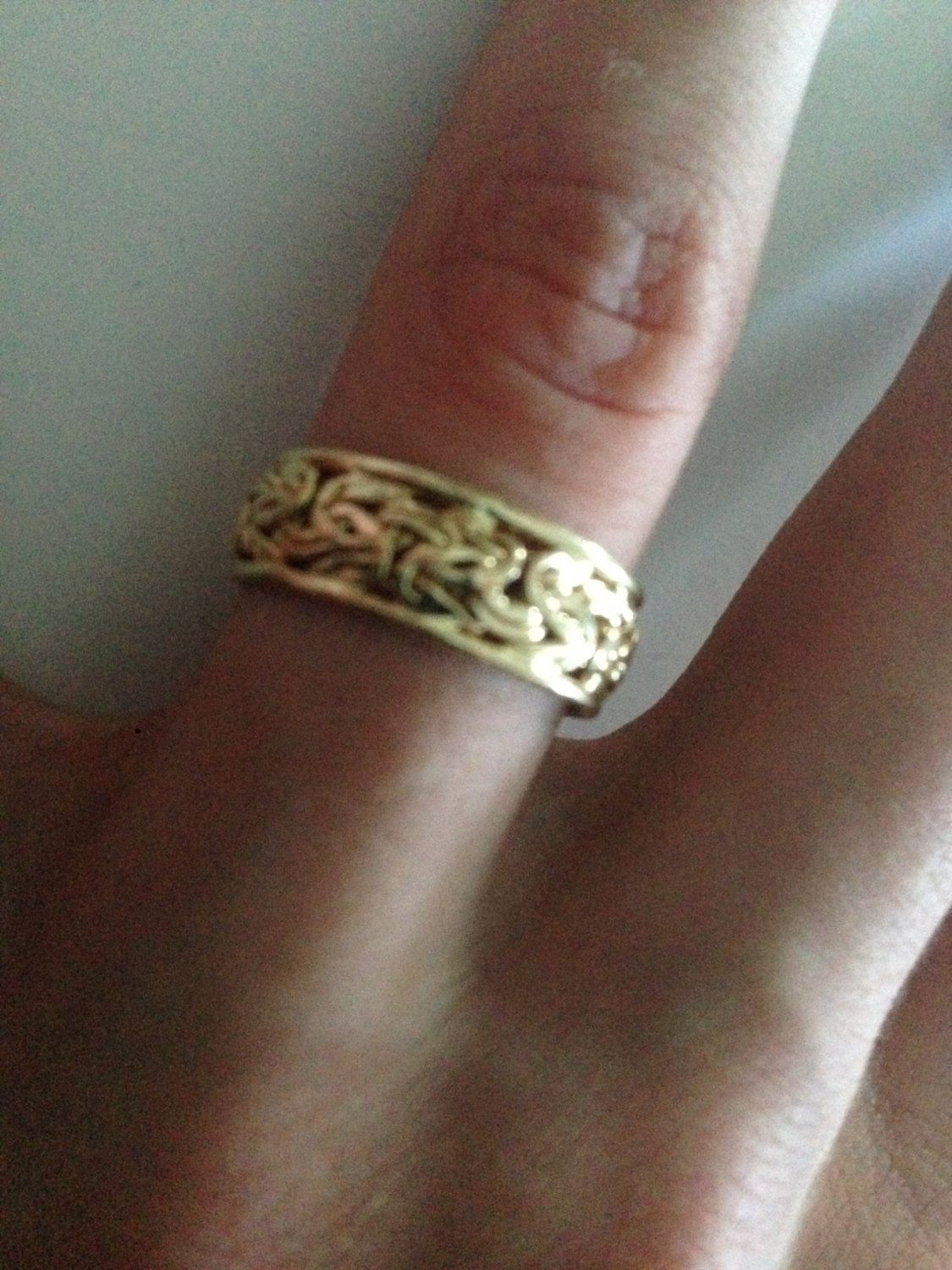 Beautiful Vintage Designer 14K Yellow Gold Byzantine Sz 6.5, Ring by Atasay Kuyumculuck Signed AK 14K Turkey by BlackPearlVintage on Etsy https://www.etsy.com/listing/265298773/beautiful-vintage-designer-14k-yellow