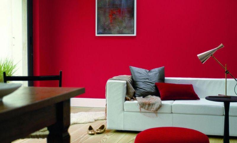Zimmer Farbgestaltung \u2013 26 Ideen für den Wohnbereich Wohnzimmer - Wandgestaltung Wohnzimmer Grau Lila