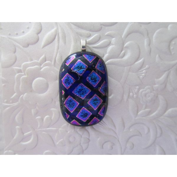 Fused Dichroic Pendant ($15) ❤ liked on Polyvore featuring jewelry, pendants, clear pendant, charm pendant, heart shaped jewelry, heart pendant and heart jewelry