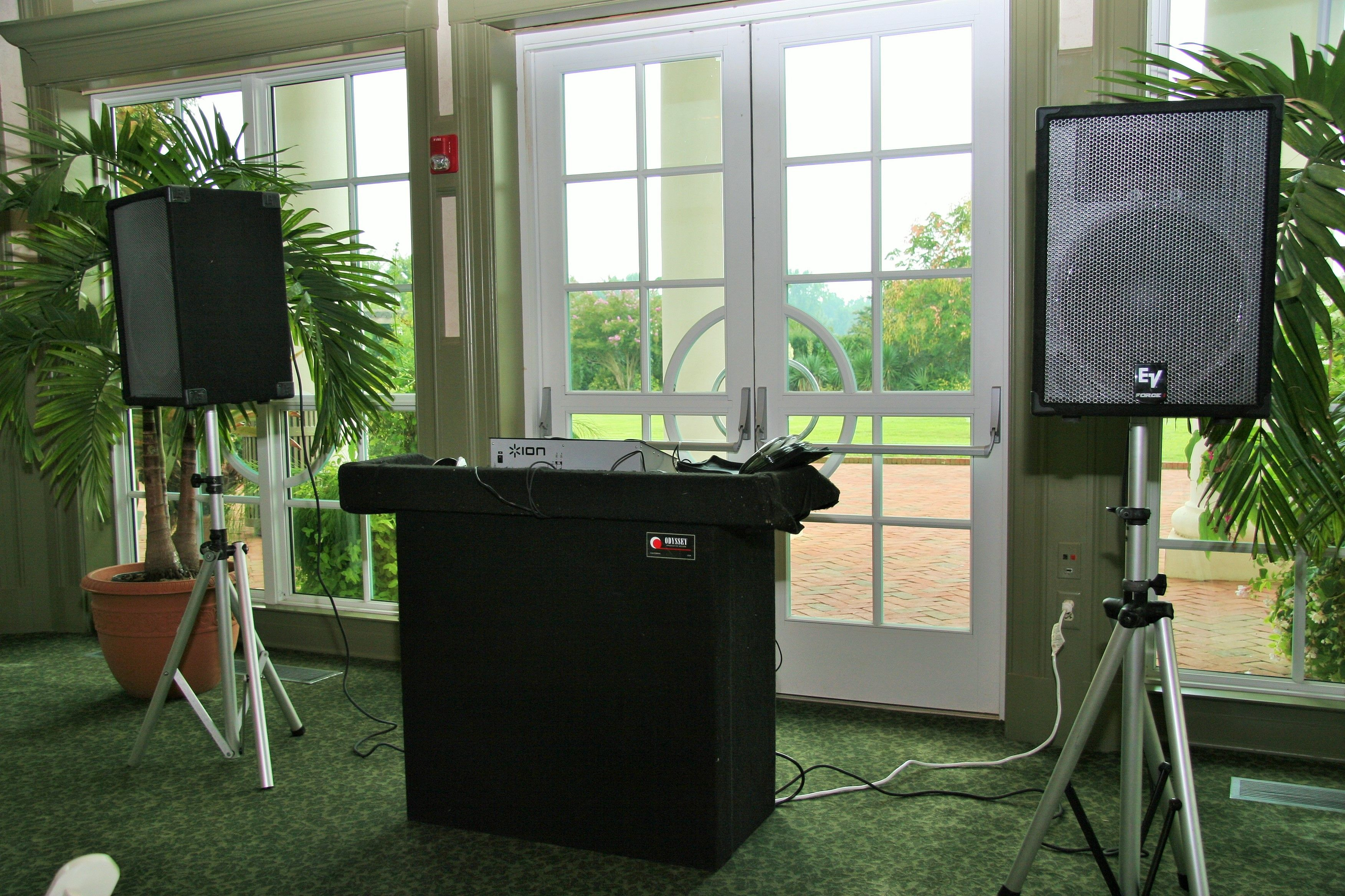 DJ Stand and Speakers