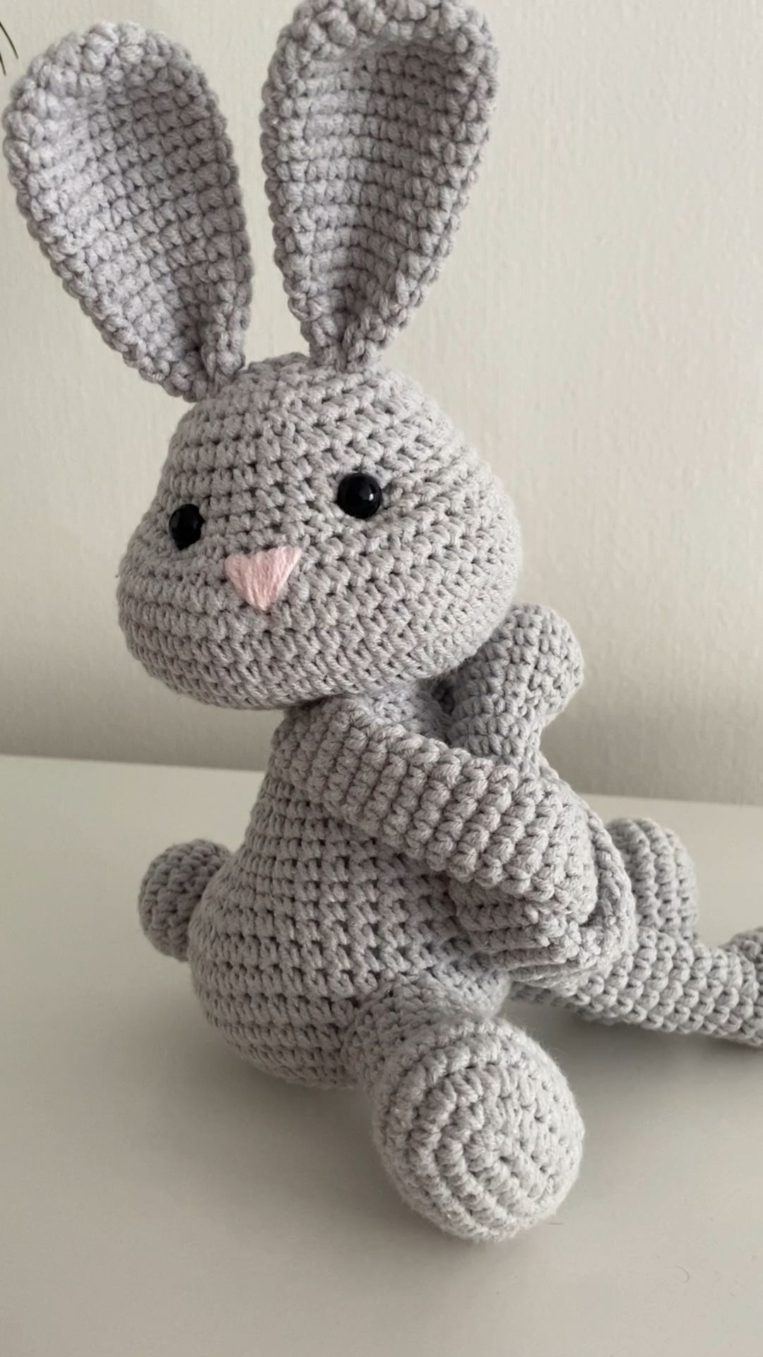 Bunny  monkey crochet curtains tie back