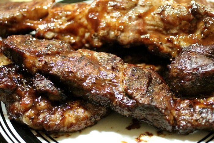 Grilled Bbq Country Style Ribs Cooking In Bliss Recipe Rib Recipes Recipes Flanken Ribs Recipe