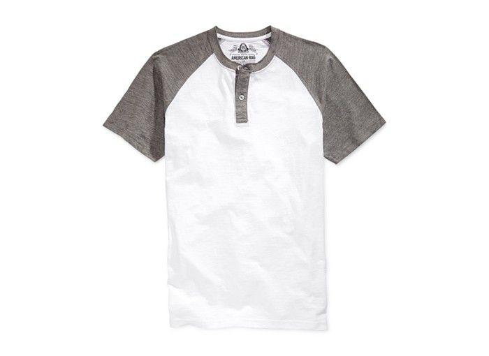 American Rag Raglan Henley T-Shirt - Shop All American Rag - Men - americana sportswear