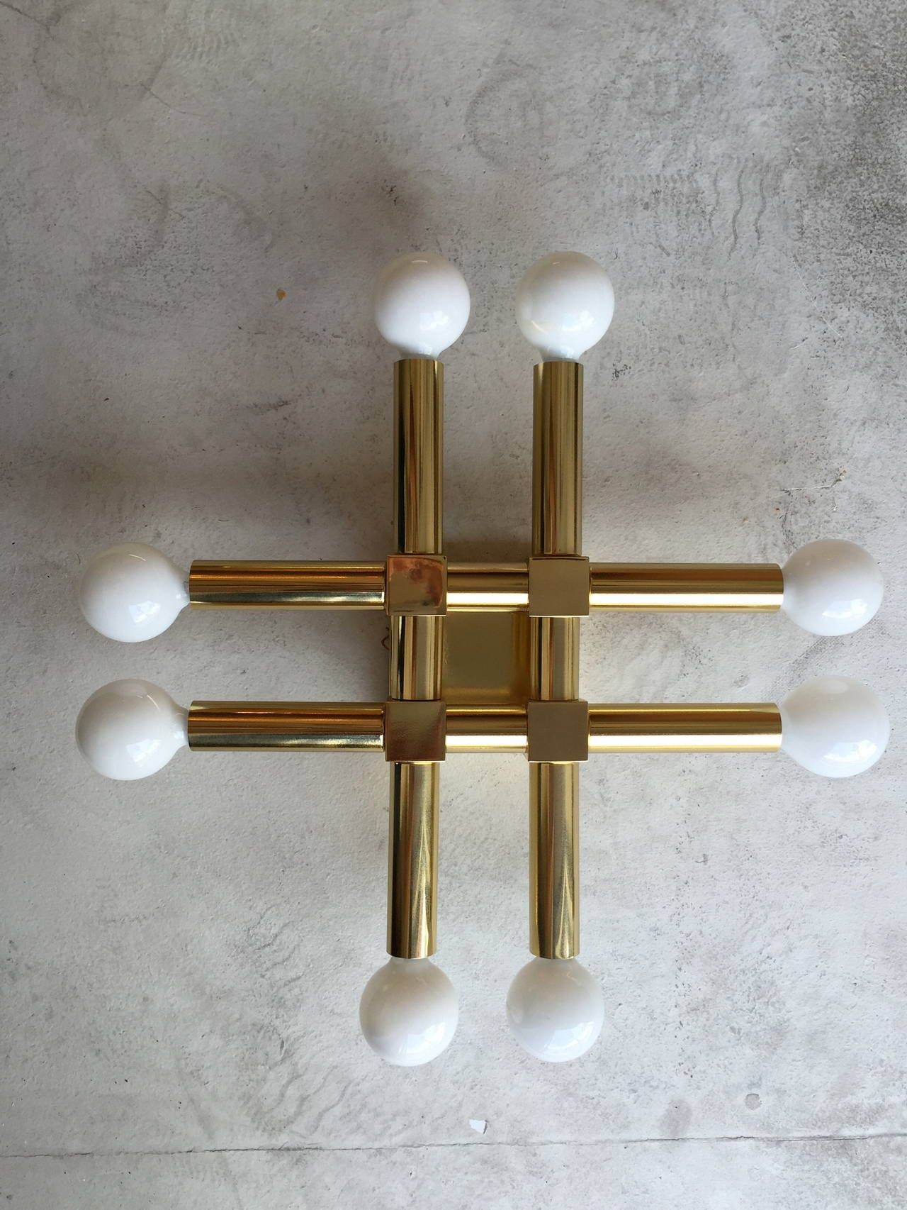 Good Pair Of 1960s Italian Ceiling Wall Lights Image 2