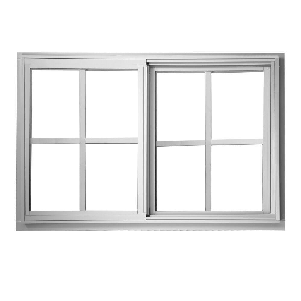 Ply Gem 7125 In X 4725 In Sliding Aluminum Window White Low E