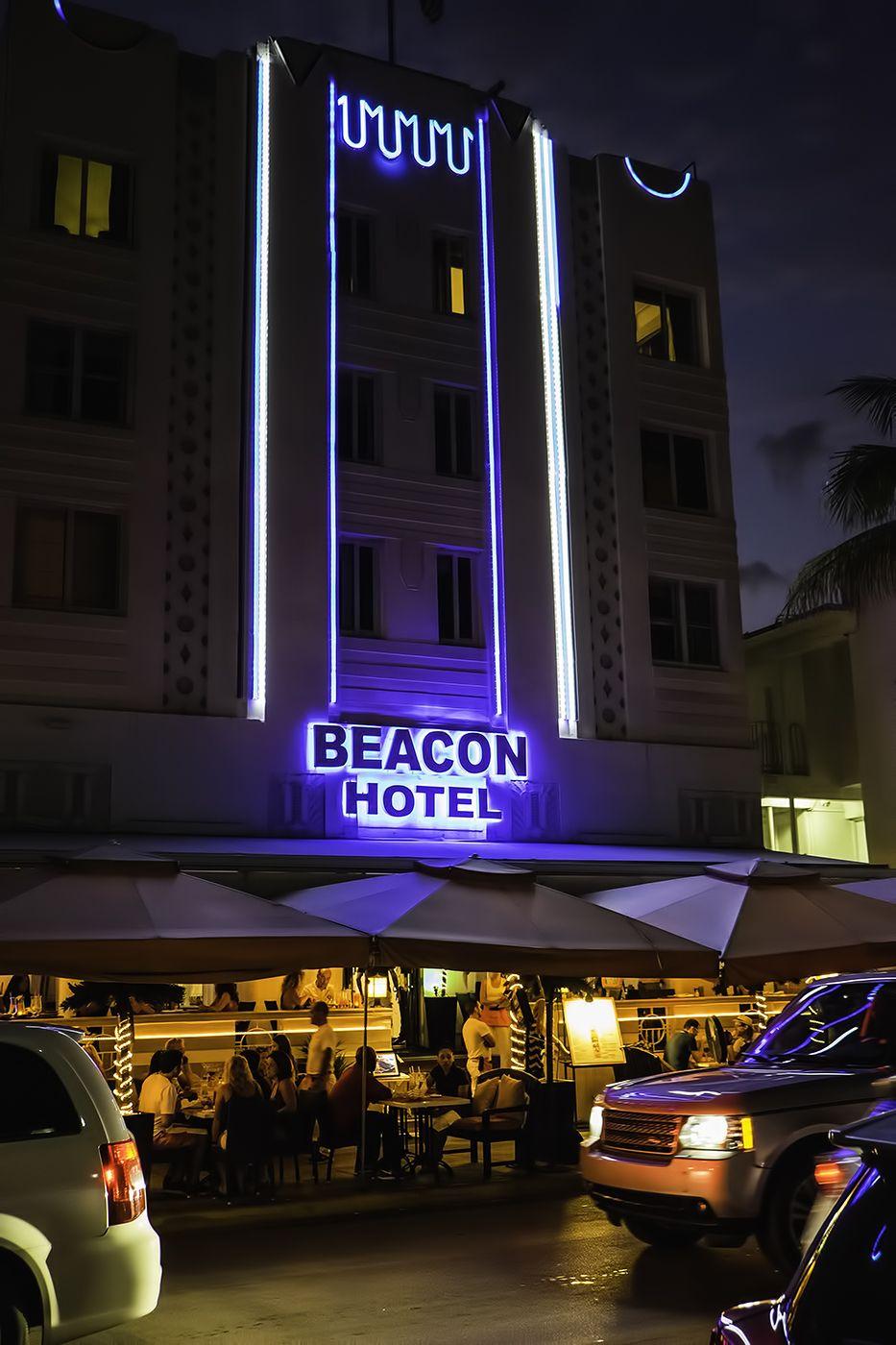 South Beach Miami's Neon Night's Beacon hotel south