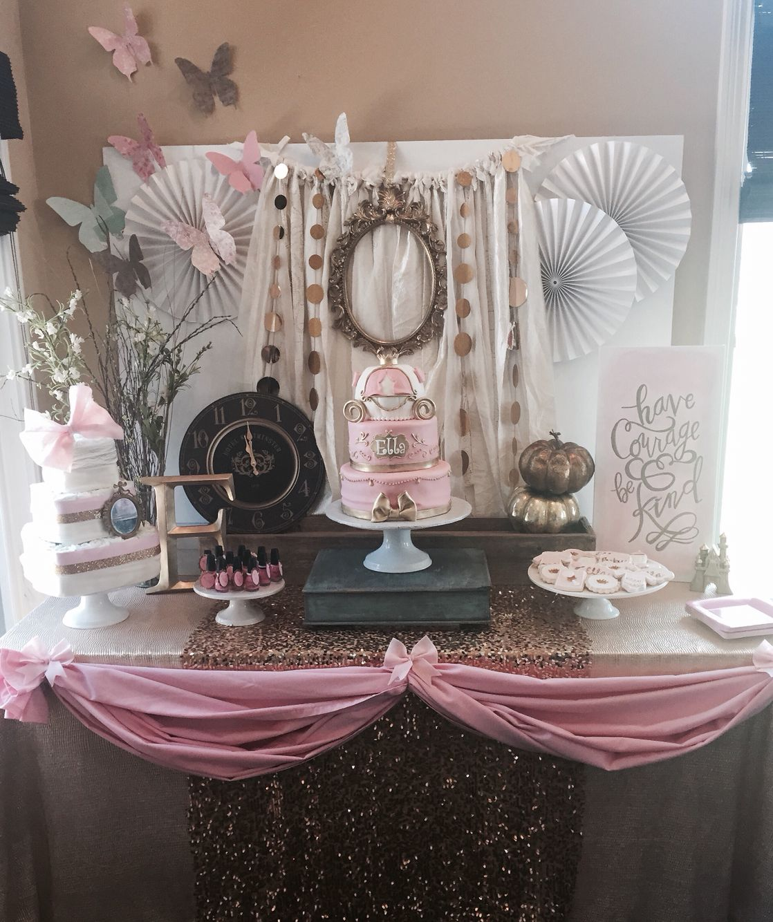 Nice Cinderella Baby Shower Sweets Table